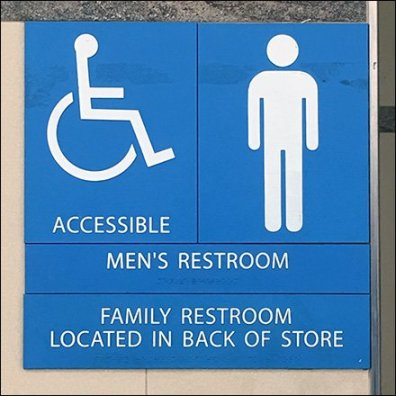 Take Your Choice Of Restroom Facilities