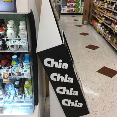 Chia Pet Choices Corrugated Aisle Display