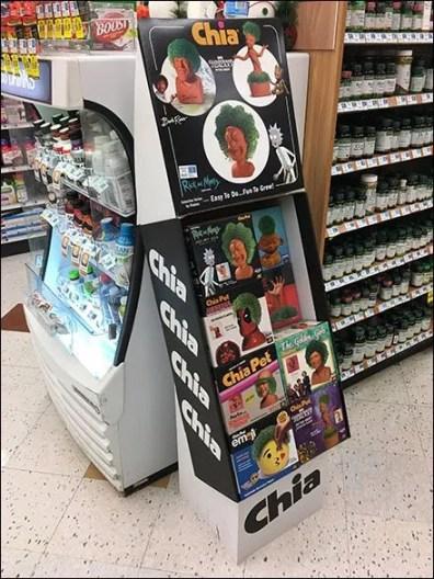 Chia Pet Choices Corrugated Aisle Display