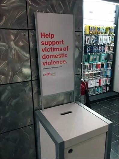 Domestic Violence Cellphone Donation Box