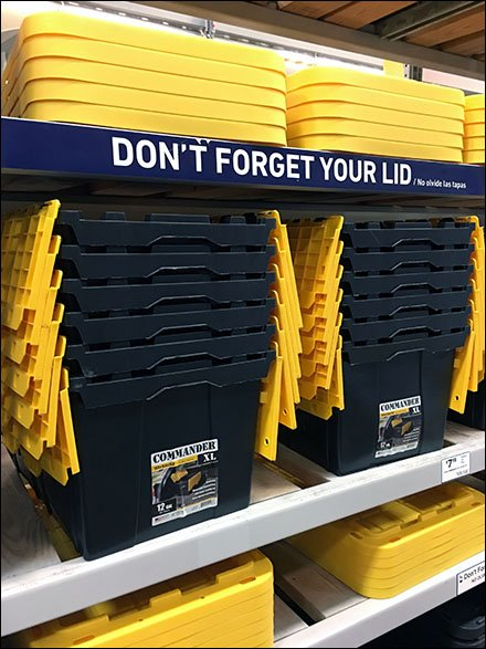 Don't Forget The Lid Shelf Edge Reminder