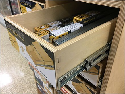 Drawer Slides Merchandised By Drawer