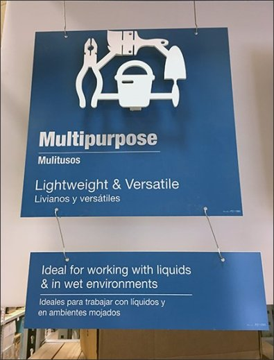Departmental Signs Color-Coded and Drop-Shadowed