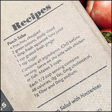 Fresh Produce Recipes Brown Bag