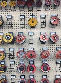 Grinding Wheel Kickstand Pegboard Hooks
