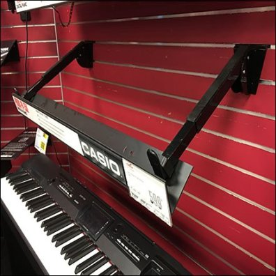 Guitar Center Casio Keyboard Slatwall Faceouts