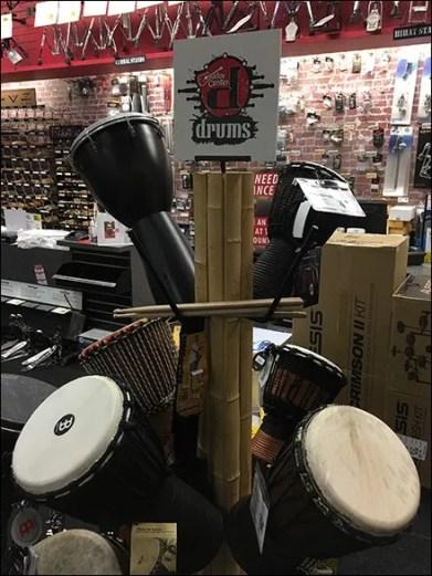 Drum Tree Merchandising Floor Stand