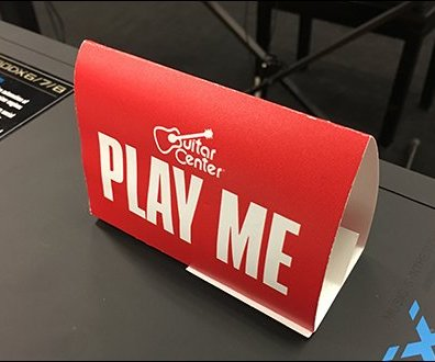 Keyboard Play Me Table-Top Tent Invitation