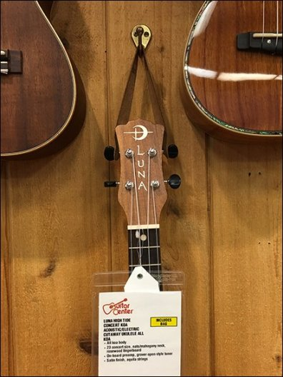 Ukulele Wall Merchandising Clothes Hooks
