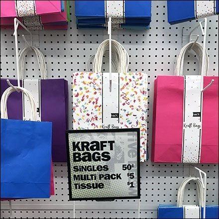 Diagonal-Braced Drop-Arm Hooks for Gift Bags