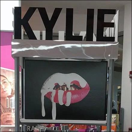 Kylie Cosmetics Sibling Lipstick Displays