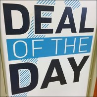 Daily Deal Store Entry Sign