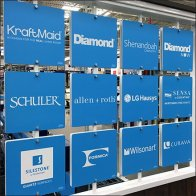 Multi-Brand In-Store Branding Board at Lowes Feature