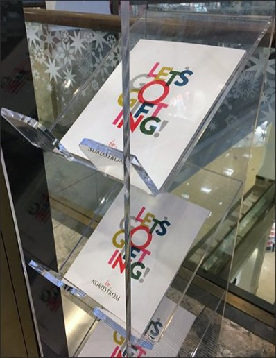 Nordstrom Let's Go Gifting Acrylic Literature Rack