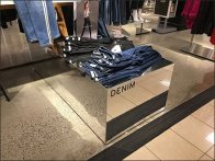Denim Jean Mirrored Identification Sign