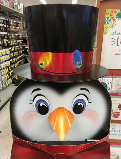 Christmas Gift Card Penguin Display