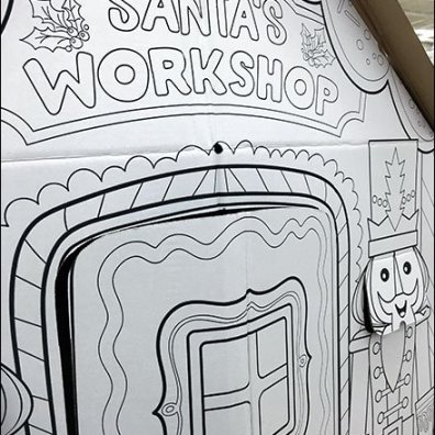 Santa's Workshop Corrugated Construction Playhouse 1