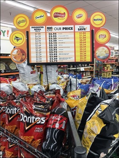 Six Snack Island Display by Frito-Lay