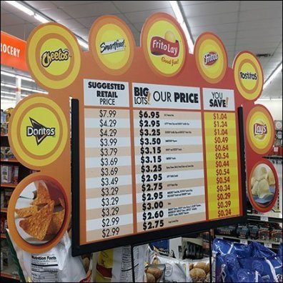 Six Snack Island Display by Frito-Lay Feature