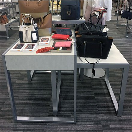 Tory Burch Designers Row Right-Angle Trestle Tables Feature