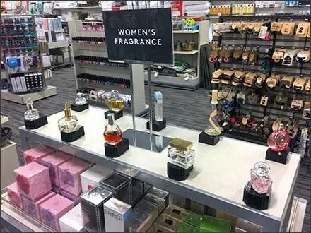 Women's Fragrance Testers Runway of Perfume Samples