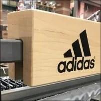Adidas Wood Bar-Mount Branding Sign