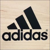 Adidas Wood Bar-Mount Branding Sign