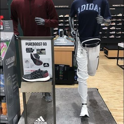 Runner's Lifestyle Adidas Sneaker Display