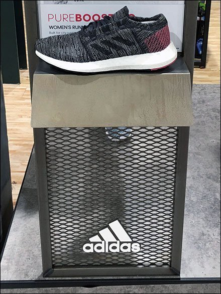 Expanded Metal Construction Adidas Display