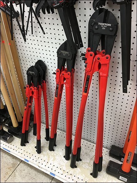 Tekton Bolt Cutters Stand-Up Merchandising