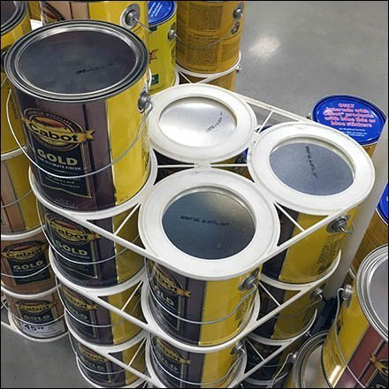 Cabot Diamond Shape Paint Can Stackers Lowes Feature