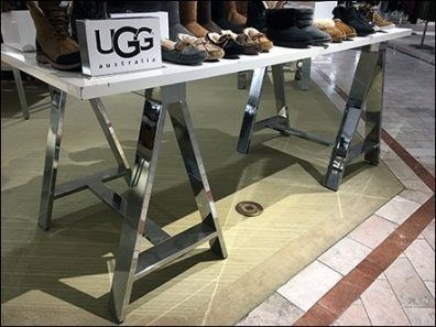 Metal Plated Sawhorse Ugg Table-Top Display