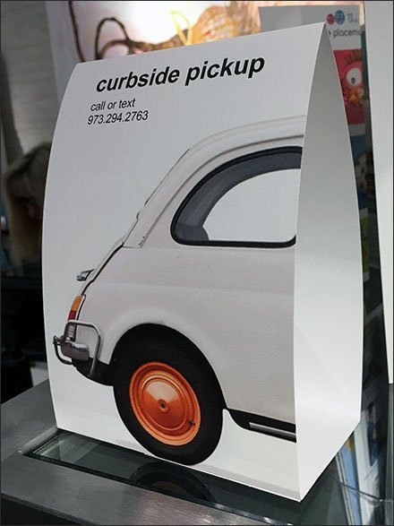 Curbside Pickup Table-Top Tent Sign