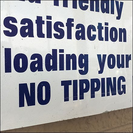 Retail Satisfaction Guaranteed But No Tipping Please