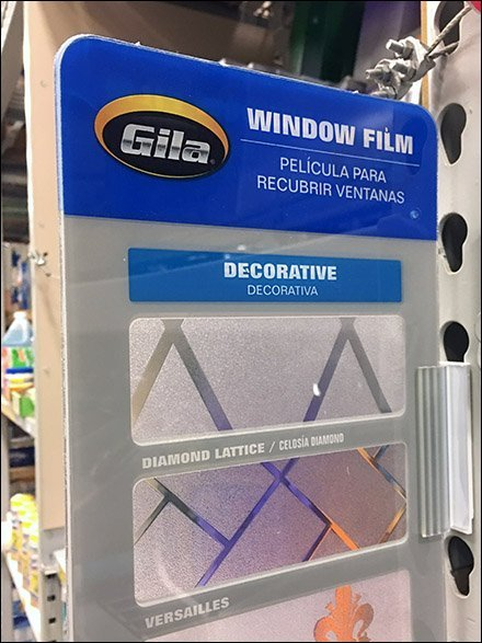 Window Film Sample For Pallet Upright