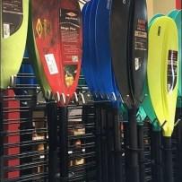 Stand-Alone Slatwire Kayak Paddle Rack