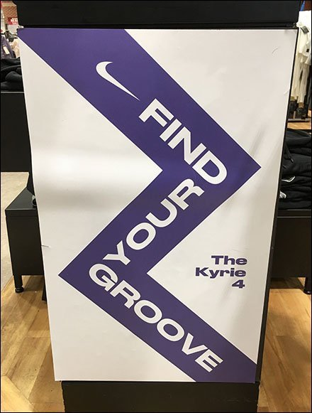 Find Your Groove Nike Museum Case Display