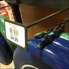 Flying Disk Hook Hang Clip Merchandising Feature
