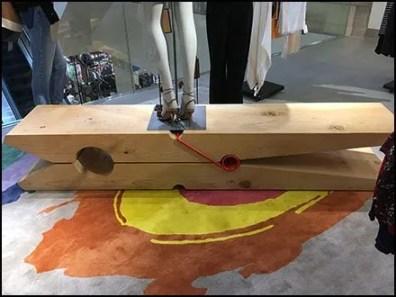 Oversize Clothes Pin Runway Display