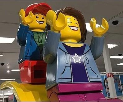 Giant Legos Sliding Board Branding