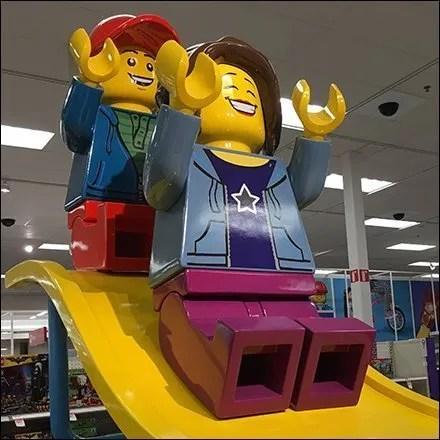 Giant Lego Sliding Board Branding Feature