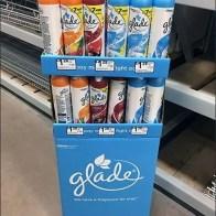 Glade Air Freshener Corrugated Aisle Display