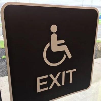 Handicapped Exit Not Handicapped Entrance Feature