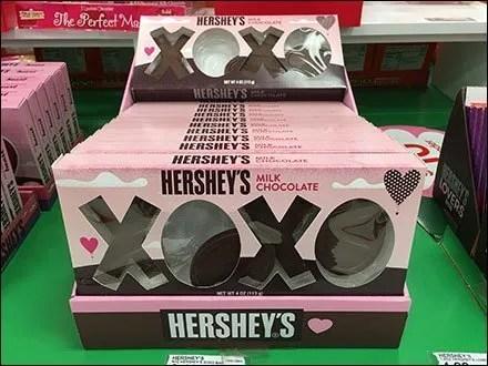 Hershey's Kisses and Hugs XOXO Merchandising
