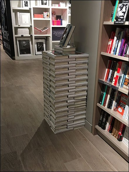 Becoming Michelle Obama Jenga Book Stack
