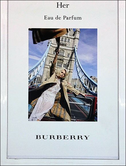 Burberry Her Perfume Mini Museum Case Tower