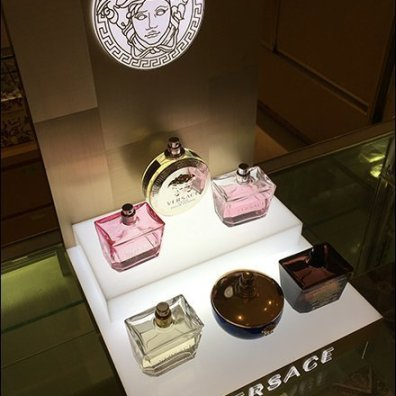 Versace's Medusa Counter-Top Fragrance Display