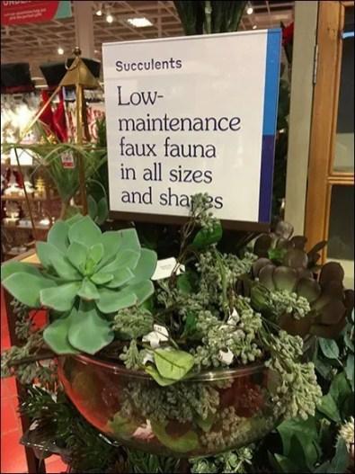 Low Maintenance Faux Fauna Succulents Tower