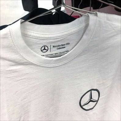 Mercedes Benz T-Shirt Spiral Rack Display Feature