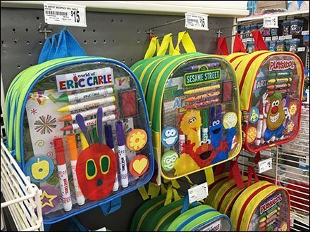 Kids Gift Shop Licensed Artist Backpack Endcap